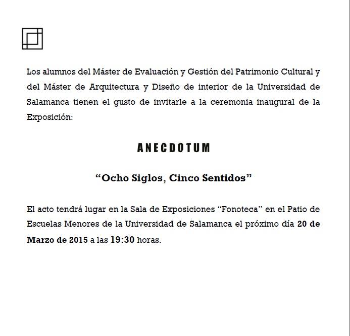 invitacion expoición ANECDOTUM